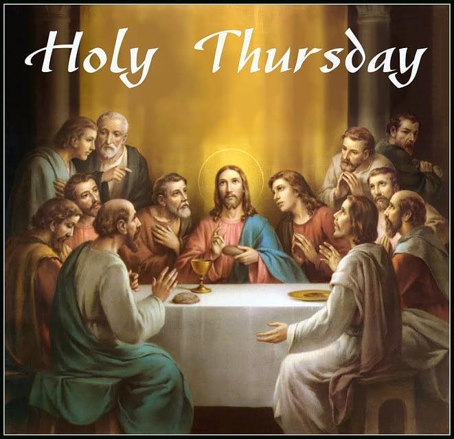 The gospel of Maundy Thursday